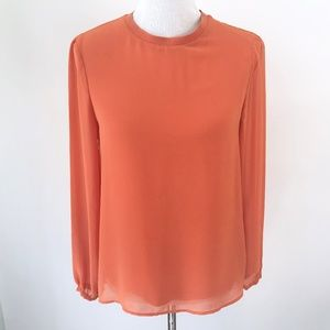 Zara Womens Long Sleeve Flowy Top